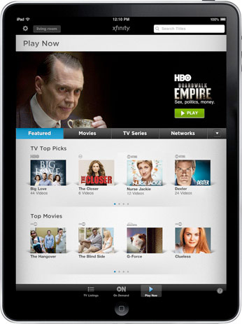 Comcast Xfinity VOD iPad App